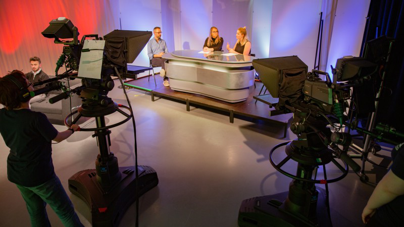 Election 2019 - TV studio