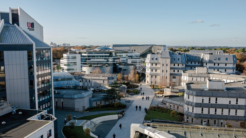Talbot Campus as viewed from an upper floor of Poole House