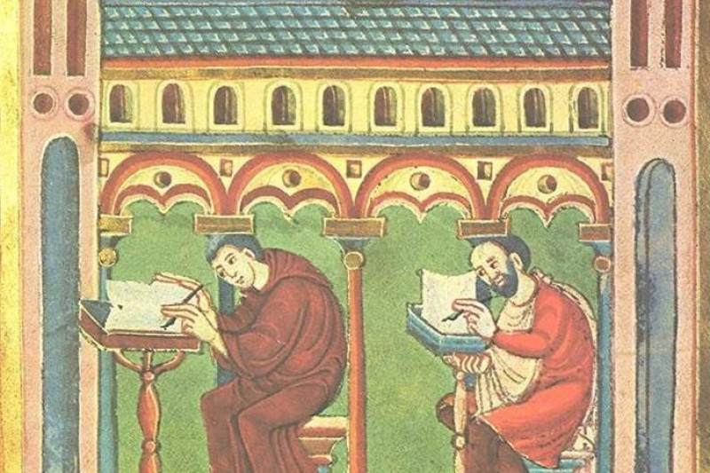 Book production in a Medieval monastic environment